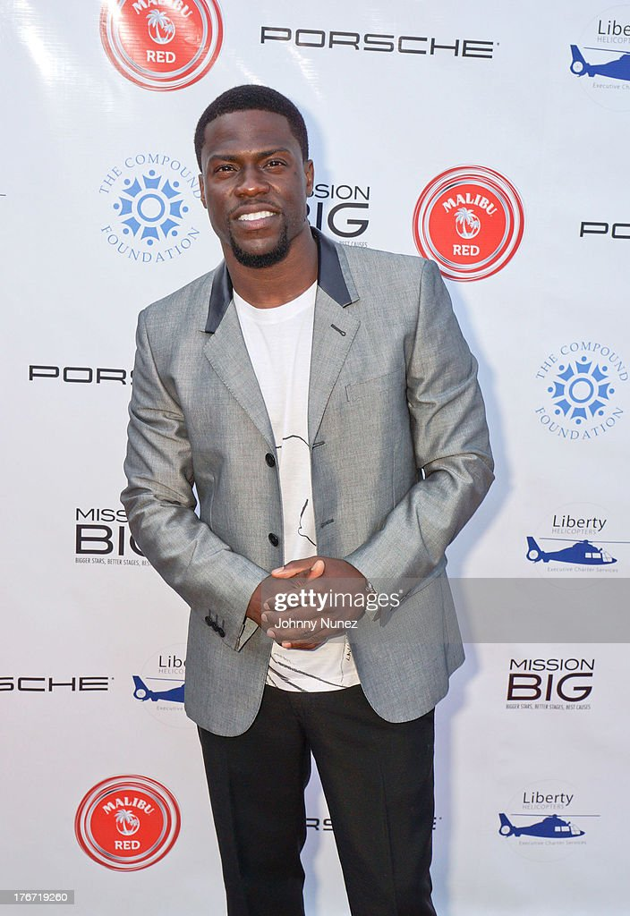 Actor and comedian <a gi-track='captionPersonalityLinkClicked' href=/galleries/search?phrase=Kevin+Hart+-+Actor&family=editorial&specificpeople=4538838 ng-click='$event.stopPropagation()'>Kevin Hart</a> attends the 2nd annual Compound Foundation Fostering a Legacy Benefit on August 17, 2013 in East Hampton, New York.