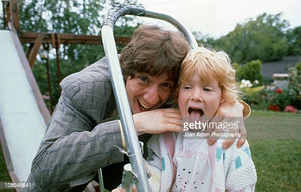 Actor and comedian Martin Short poses with daughter Katherine Elizabeth in 1989 in Los Angeles California Photo by Joan Adlen/Getty Images
