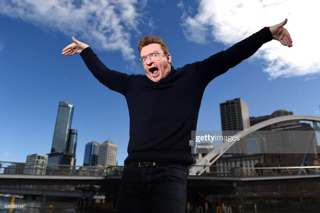 MELBOURNE, VIC - (EUROPE AND AUSTRALASIA OUT) Actor and comedian Rhys Darby poses during a photo shoot in Melbourne, Victoria.