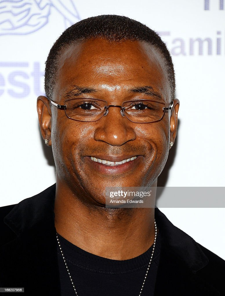 Actor and comedian <a gi-track='captionPersonalityLinkClicked' href=/galleries/search?phrase=Tommy+Davidson&family=editorial&specificpeople=619191 ng-click='$event.stopPropagation()'>Tommy Davidson</a> arrive at the Midnight Mission's 'Golden Heart Awards' honoring Tim Allen and Jason Sinay at the Beverly Wilshire Four Seasons Hotel on May 6, 2013 in Beverly Hills, California.