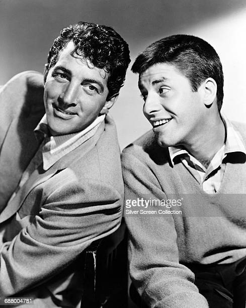 US actor and comedians Jerry Lewis and Dean Martin circa 1955