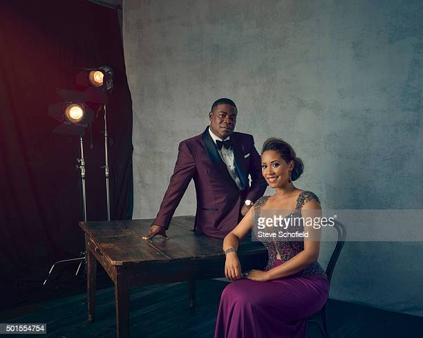 Actor and comic Tracy Morgan with Megan Morgan are photographed for Emmy magazine on September 20 2015 in Los Angeles California