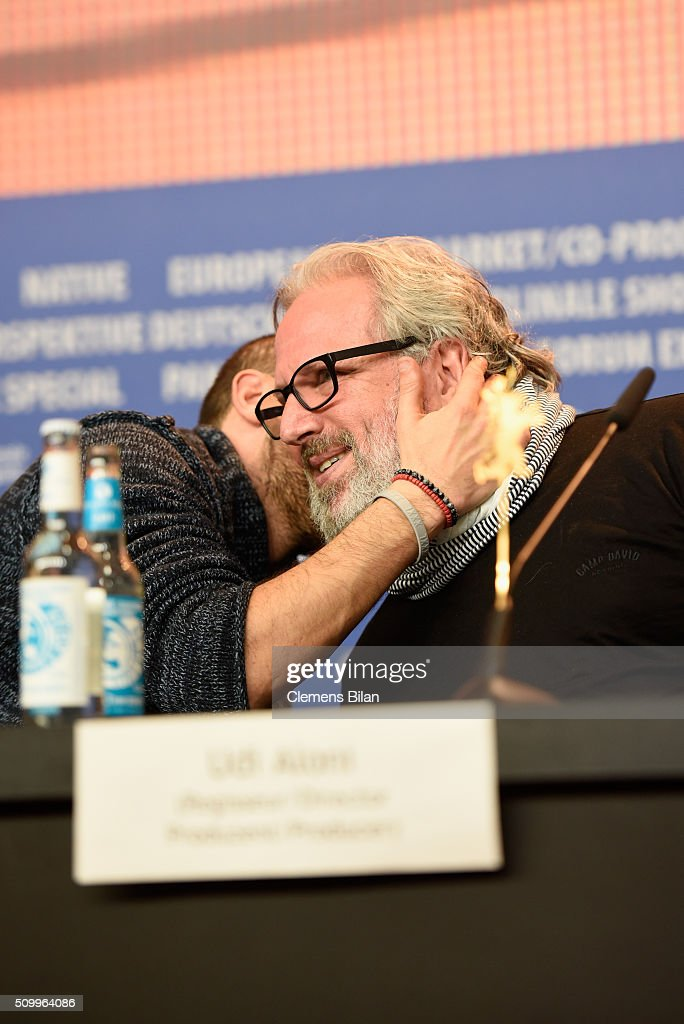 Actor and co-writer Tamer Nafar and director Udi Aloni attend the 'Junction 48' press conference during the 66th Berlinale International Film Festival Berlin at Grand Hyatt Hotel on February 13, 2016 in Berlin, Germany.