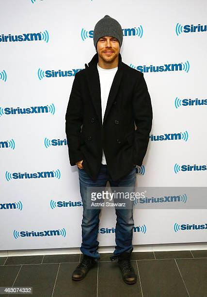 Actor and dancer Derek Hough visits the SiriusXM Studios on February 9 2015 in New York City