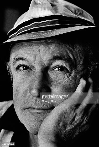 Actor and dancer Gene Kelly poses during a 1979 Beverly Hills California photo portrait session at his home Kelly created the model for bigproduction...