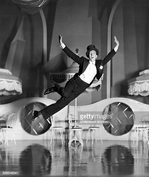 Actor and dancer Ray Bolger seems to defy gravity in a film still from the movie musical 'Sunny' Hollywod California June 1941