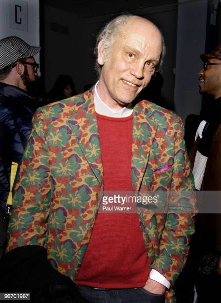 Actor and designer John Malkovich attends Michael Bastian Fall 2010 during MercedesBenz Fashion Week at Exit Art on February 14 2010 in New York City