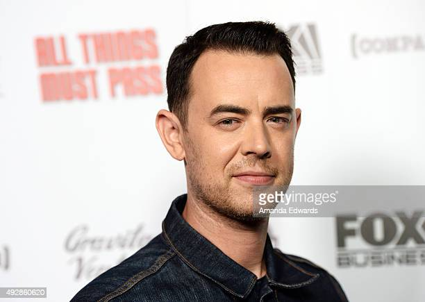 Actor and director Colin Hanks arrives at the premiere of Gravitas Ventures' 'All Things Must Pass' at the Harmony Gold Theatre on October 15 2015 in...