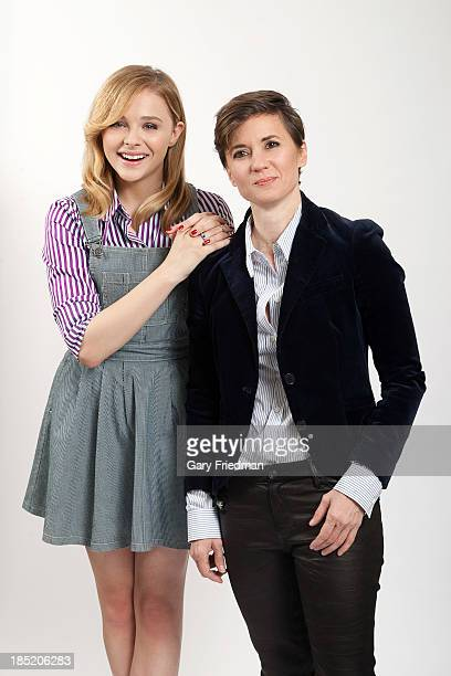 Actor and director from 'Carrie' Kimberly Peirce Chloe Moretz are photographed for Los Angeles Times on October 4 2013 in Los Angeles California...