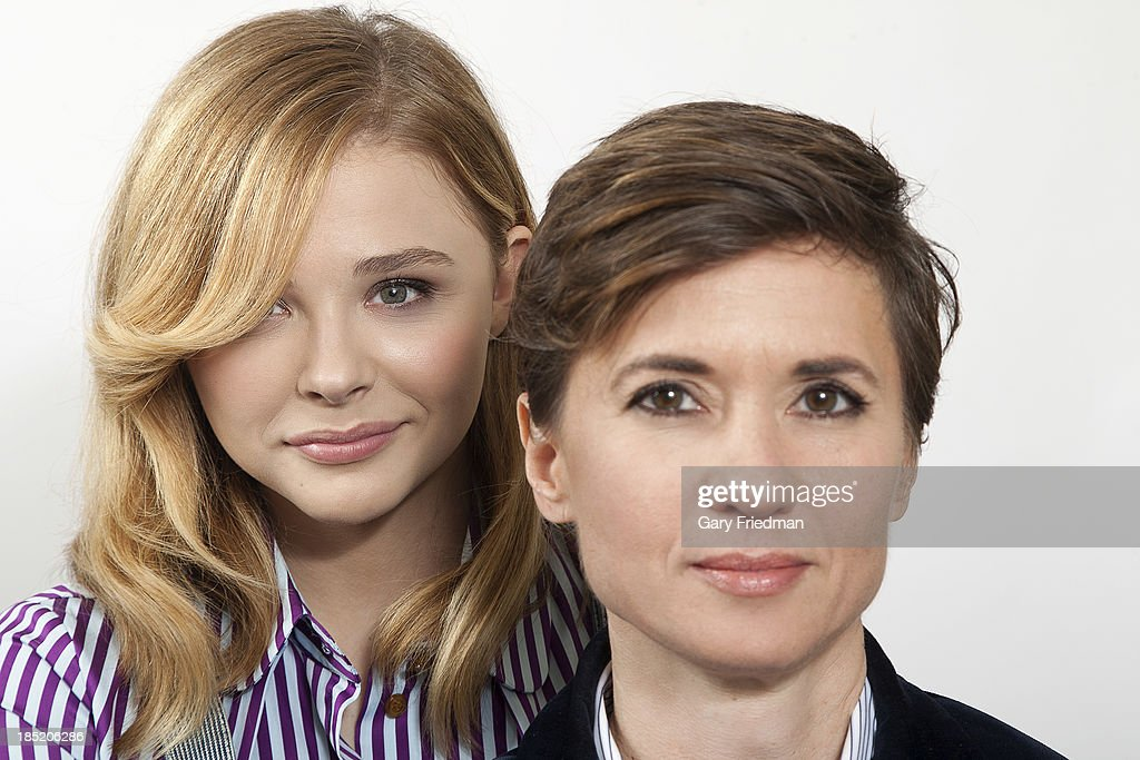Actor and director from 'Carrie' Kimberly Peirce, Chloe Moretz are photographed for Los Angeles Times on October 4, 2013 in Los Angeles, California. PUBLISHED IMAGE.