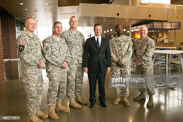 Actor and Director Gary Sinise makes an appearance at Clover Park Technical College on December 9 2014 in Lakewood Washington