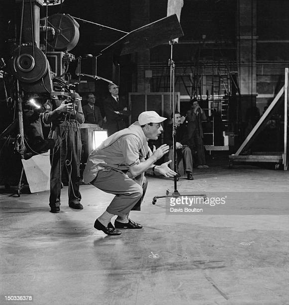 Actor and director Gene Kelly on the set of the film 'Invitation to the Dance' 1954