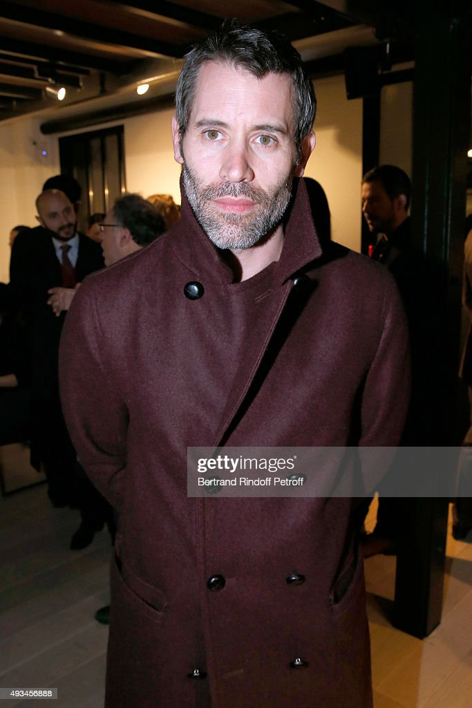 Actor and Director Jalil Lespert attends the 'New American Art', Exhibition of Artists Matthew Day Jackson and Rashid Johnson, Opening Cocktail at Studio des Acacias on October 20, 2015 in Paris, France.