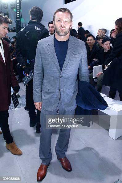 Actor and Director Joel Edgerton attends the Louis Vuitton Menswear Fall/Winter 20162017 Fashion Show as part of Paris Fashion Week Held at 'Parc...