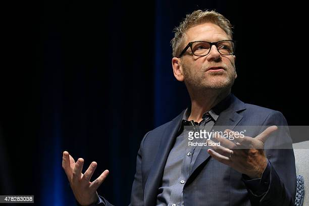 Actor and director Kenneth Branagh speaks on stage during The Guardian seminar as part of the Cannes Lions International Festival of Creativity on...