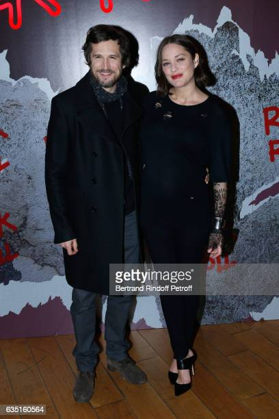 Actor and Director of the movie Guillaume Canet and actress of the movie Marion Cotillard attend the 'Rock'N Roll' Premiere at Cinema Pathe...