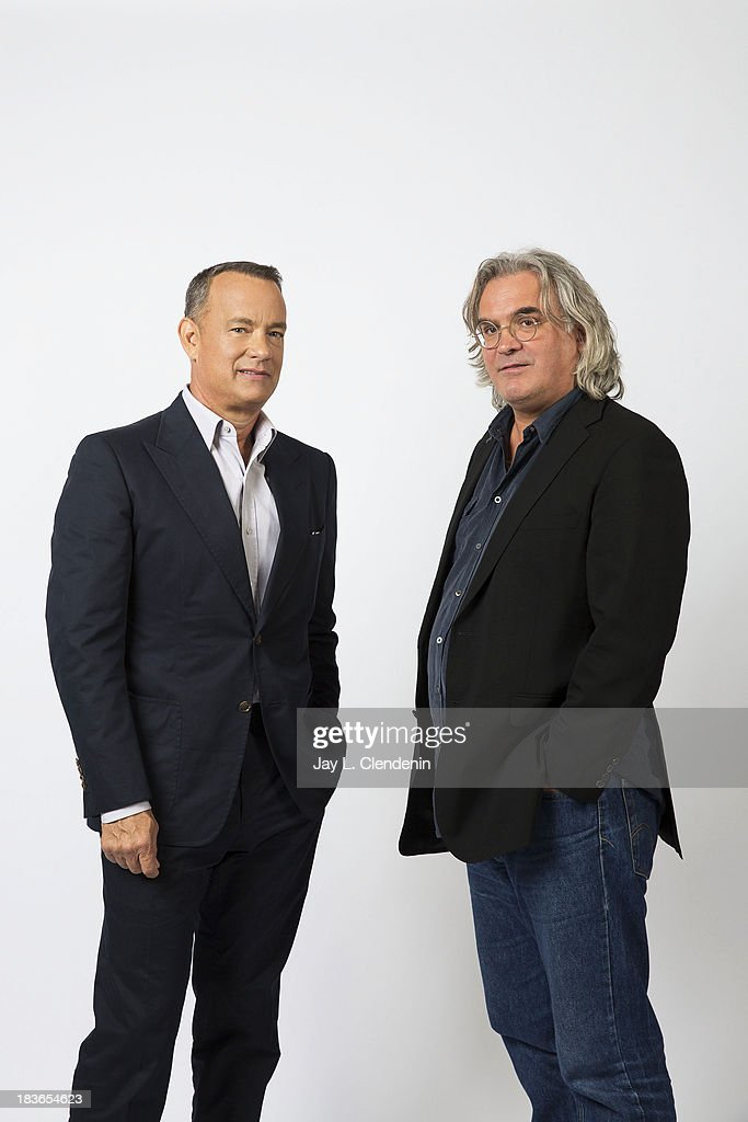 Actor and Director Paul Greengrass, Tom Hanks is photographed for Los Angeles Times on September 29, 2013 in Culver City, California. PUBLISHED IMAGE.