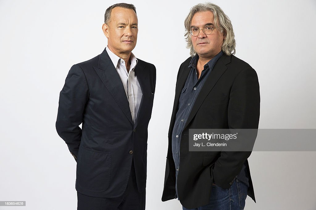 Actor and Director Paul Greengrass, <a gi-track='captionPersonalityLinkClicked' href=/galleries/search?phrase=Tom+Hanks&family=editorial&specificpeople=201790 ng-click='$event.stopPropagation()'>Tom Hanks</a> is photographed for Los Angeles Times on September 29, 2013 in Culver City, California. PUBLISHED IMAGE.