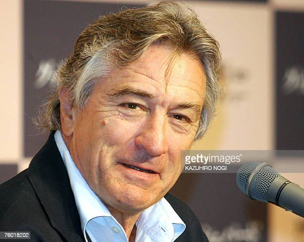 US actor and director Robert De Niro speaks during a news conference to promote his film 'The Good Shepherd ' in Tokyo 08 August 2007 The film will...