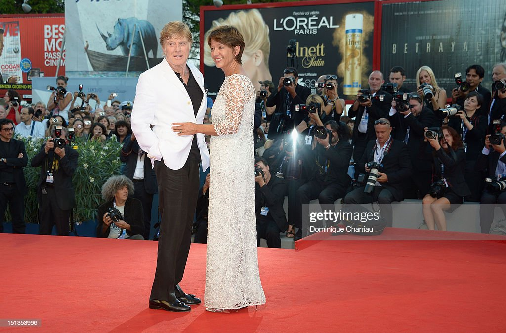 Actor and director Robert Redford and his wife Sibylle Szaggars attends 'The Company You Keep' Premiere during The 69th Venice Film Festival at the...