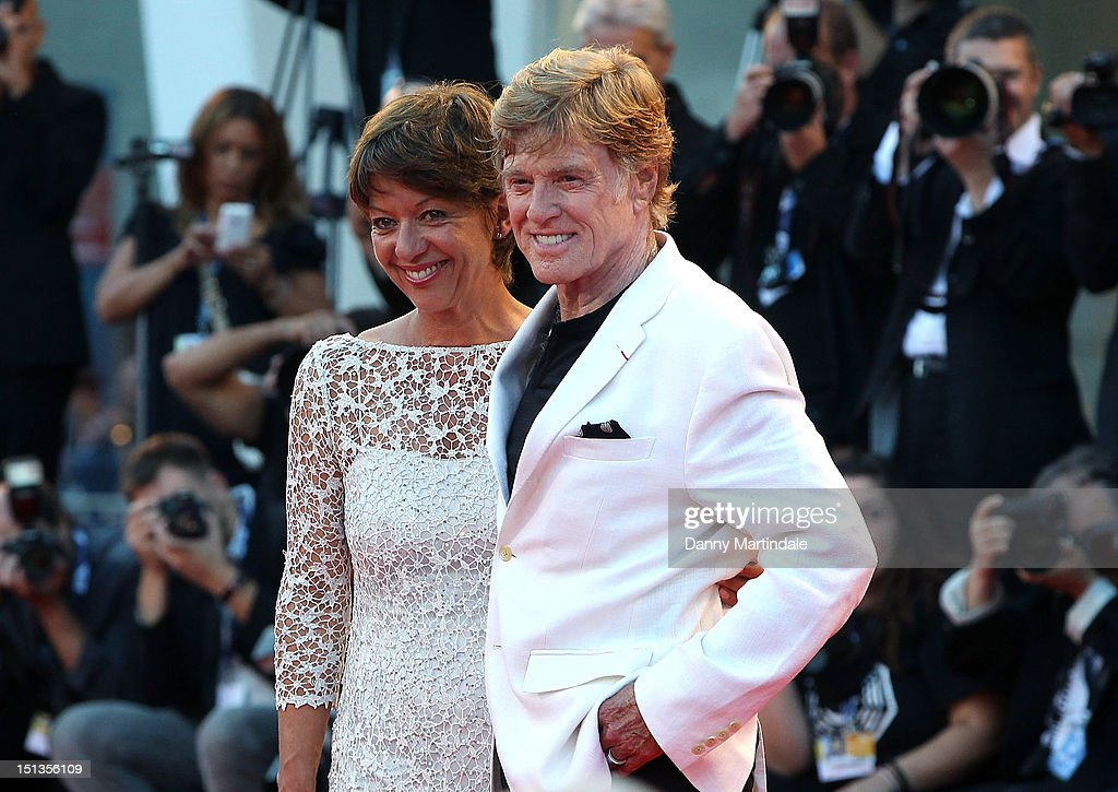 Actor and director Robert Redford and Sibylle Szaggars attend the 'The Company You Keep' premiere at the 69th Venice Film Festival on September 6...