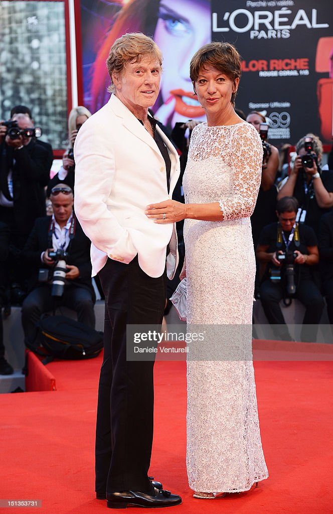 Actor and director Robert Redford and Sibylle Szaggars attends 'The Company You Keep' Premiere during The 69th Venice Film Festival at the Palazzo...