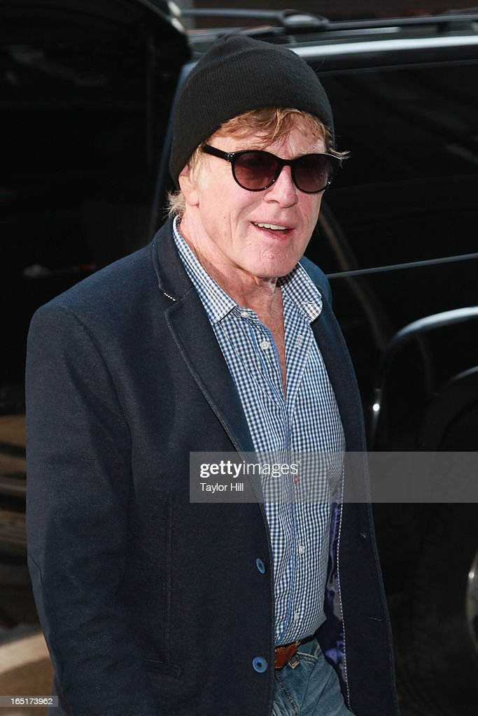 Actor and director Robert Redford visits the set of 'Good Morning America' at GMA Studios on April 1, 2013 in New York City.
