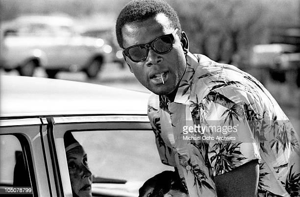 Actor and director Sidney Poitier on the set of the movie 'Lilies of the Field' for which he won the Academy Award for best actor in Tuscon Arizona