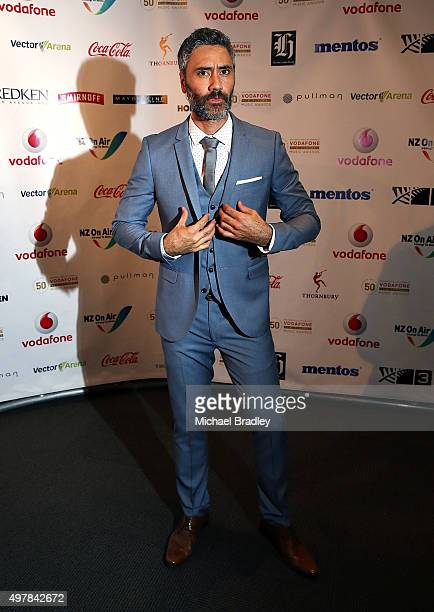 Actor and Director Taika Waititi poses for photos at the Vodafone New Zealand Music Awards at Vector Arena on November 19 2015 in Auckland New Zealand