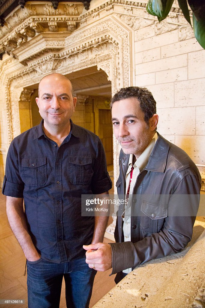 Actor and director Waleed Zuaiter, <a gi-track='captionPersonalityLinkClicked' href=/galleries/search?phrase=Hany+Abu-Assad&family=editorial&specificpeople=656572 ng-click='$event.stopPropagation()'>Hany Abu-Assad</a> are photographed for Los Angeles Times on February 24, 2014 in Los Angeles, California. PUBLISHED IMAGE.