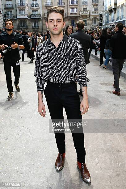 Actor and director Xavier Dolan attends the Chanel show as part of the Paris Fashion Week Womenswear Spring/Summer 2015 on September 30 2014 in Paris...
