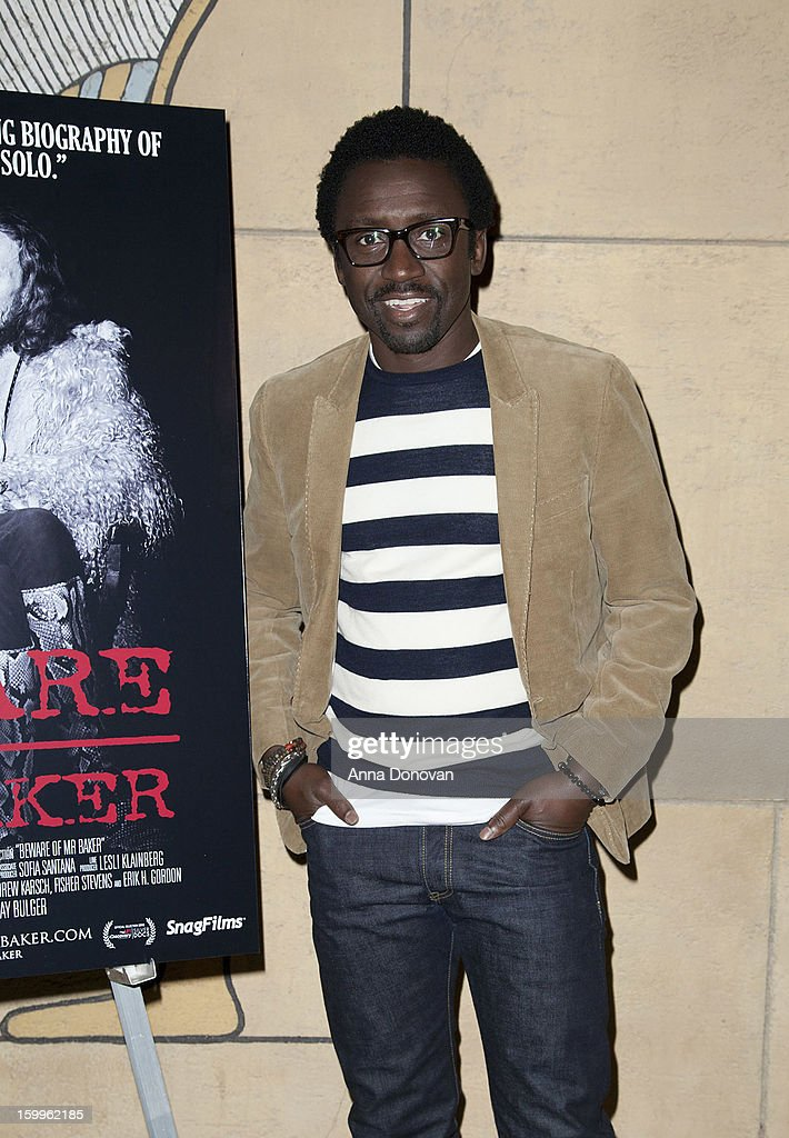 Actor and DJ Tony Okungbowa attends a special screening of 'Beware Of Mr Baker' at the Egyptian Theatre on January 23 2013 in Hollywood California