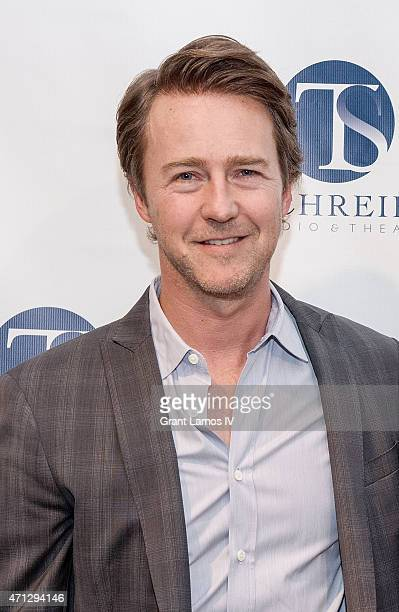 Actor and event honoree Edward Norton attends the T Schreiber Studio and Theatre's 46th Anniversary Gala held at Helen Mills Theater on April 26 2015...