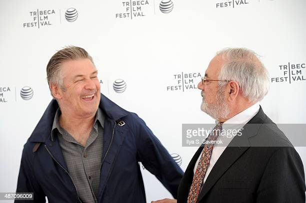Actor and executive producer Alec Baldwin and Former US Representative Barney Frank attend Tribeca Talks After the Movie 'Compared To What The...