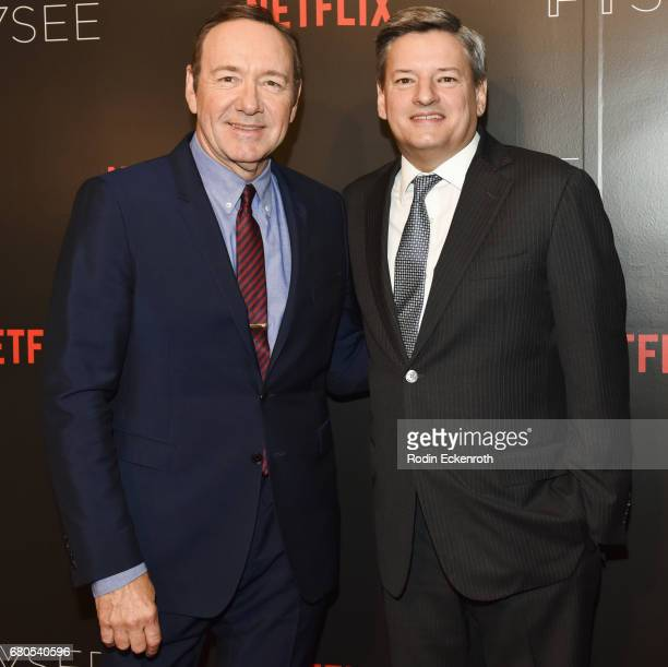 Actor and Executive Producer Kevin Spacey and Netflix Chief Content Officer Ted Sarandos attend Netflix's 'House of Cards' For Your Consideration...