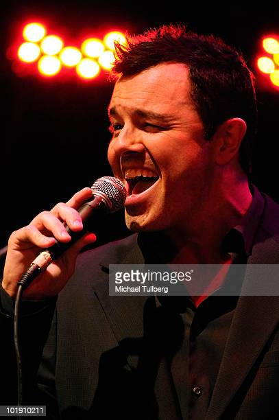 Actor and 'Family Guy' creator Seth MacFarlane performs with the Influence Jazz Orchestra at the 2nd Annual LAPD Memorial Foundation Benefit Concert...