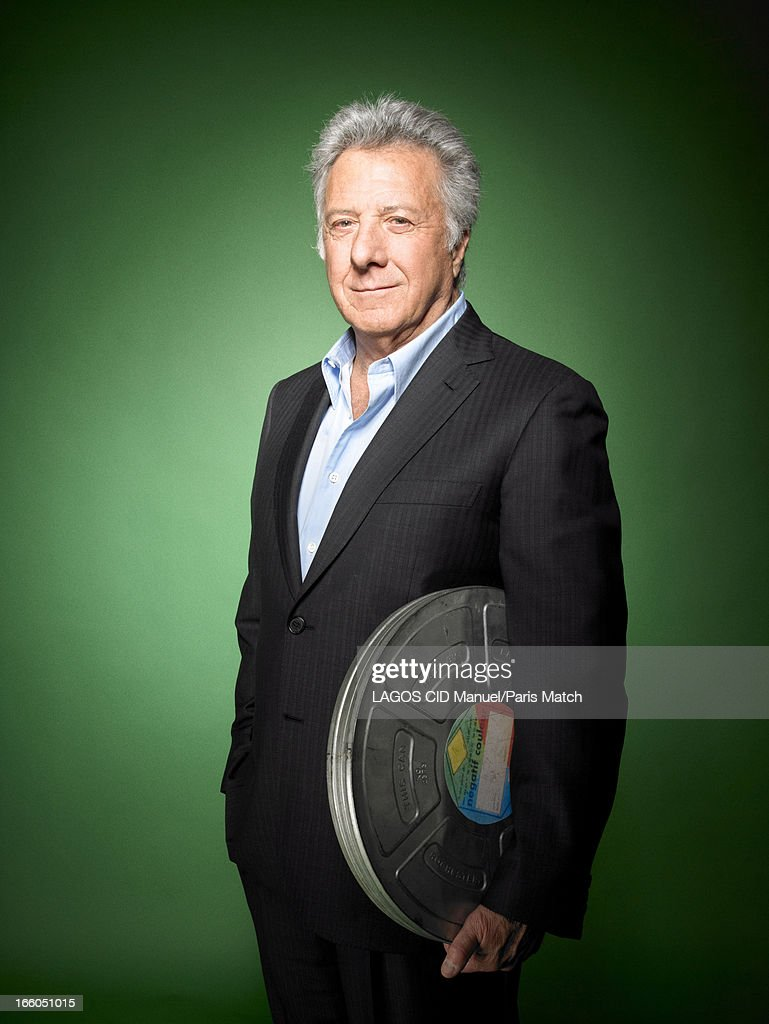 Actor and film director <a gi-track='captionPersonalityLinkClicked' href=/galleries/search?phrase=Dustin+Hoffman&family=editorial&specificpeople=171356 ng-click='$event.stopPropagation()'>Dustin Hoffman</a> is photographed for Paris Match on March 25, 2013 in Paris, France.