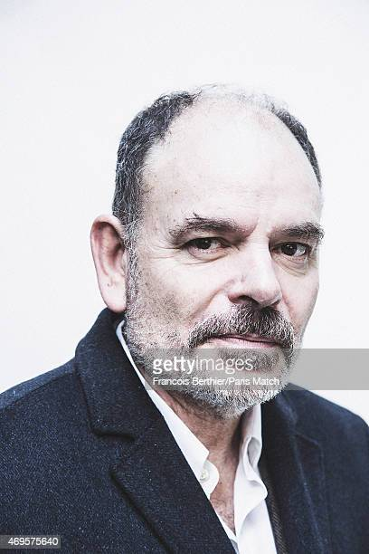 Actor and film director JeanPierre Darroussin is photographed for Paris Match on March 12 2015 in Paris France