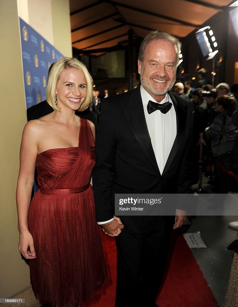 Actor and host <a gi-track='captionPersonalityLinkClicked' href=/galleries/search?phrase=Kelsey+Grammer&family=editorial&specificpeople=210500 ng-click='$event.stopPropagation()'>Kelsey Grammer</a> (R) and wife Kayte Grammer attend the 65th Annual Directors Guild Of America Awards at Ray Dolby Ballroom at Hollywood & Highland on February 2, 2013 in Los Angeles, California.