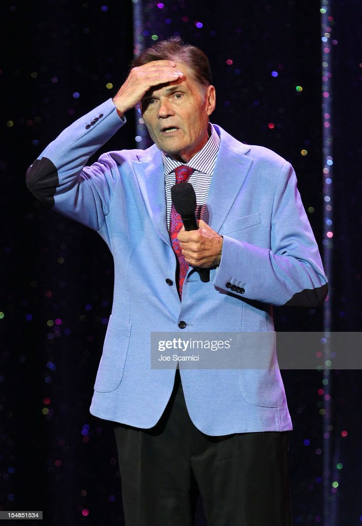 Actor and IMF Honorary member Fred Willard performs onstage at the International Myeloma Foundation's 6th Annual Comedy Celebration hosted by Ray...