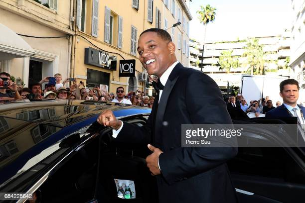 Actor and jury member Will Smith is spotted at the 'Majestic' hotel during the 70th annual Cannes Film Festival at on May 17 2017 in Cannes France