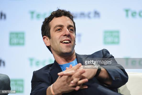 Actor and List cofounder BJ Novak speaks onstage during TechCrunch Disrupt NY 2016 at Brooklyn Cruise Terminal on May 9 2016 in New York City