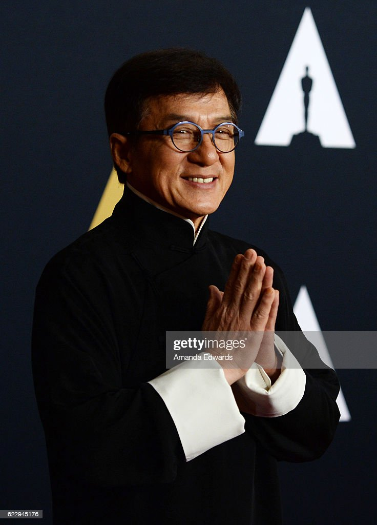 Actor and martial artist Jackie Chan arrives at the Academy of Motion Picture Arts and Sciences' 8th Annual Governors Awards at The Ray Dolby Ballroom at Hollywood & Highland Center on November 12, 2016 in Hollywood, California.