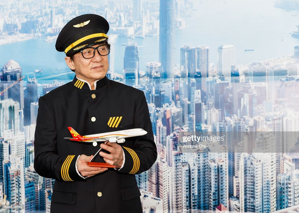 Actor and martial artist Jackie Chan celebrates Hong Kong Airlines' inaugural flight to Vancouver, BC at Vancouver International Airport on June 30, 2017 in Vancouver, Canada.