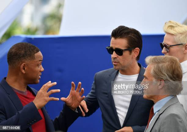 US actor and member of the Feature Film jury Will Smith Irish actor Colin Farrell Austrian actor Christoph Waltz and British actress Tilda Swinton...