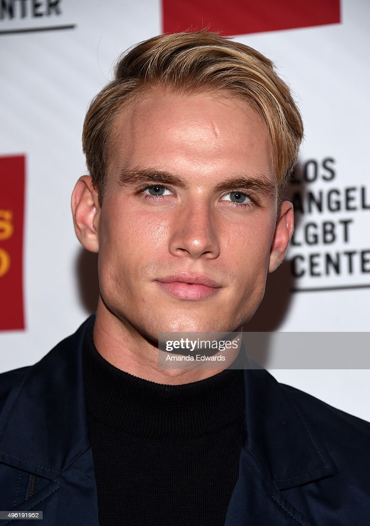 Actor and model Austin Rhodes arrives at the 46th Anniversary Gala Vanguard Awards at the Hyatt Regency Century Plaza on November 7 2015 in Los...