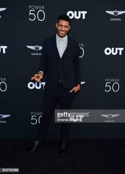 Actor and model Jeffrey BowyerChapman arrives at OUT Magazine's Inaugural POWER 50 Gala Awards Presentation at Goya Studios on August 10 2017 in Los...