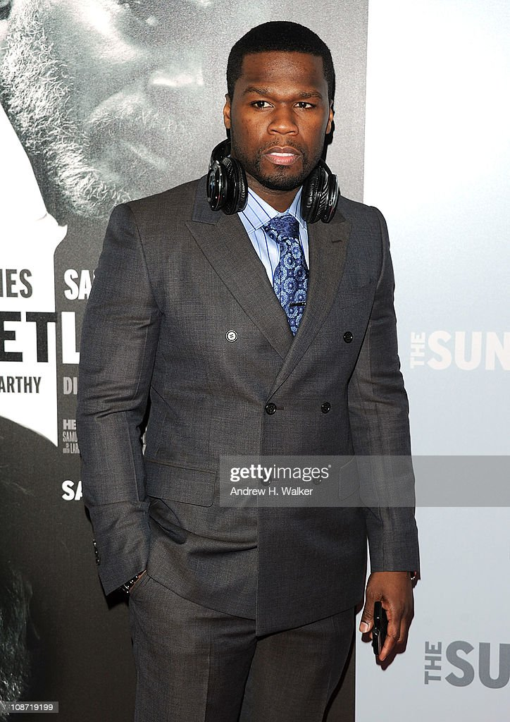 Actor and musician 50 Cent attends the HBO Films & The Cinema Society screening of 'Sunset Limited' at the Time Warner Screening Room on February 1, 2011 in New York City.