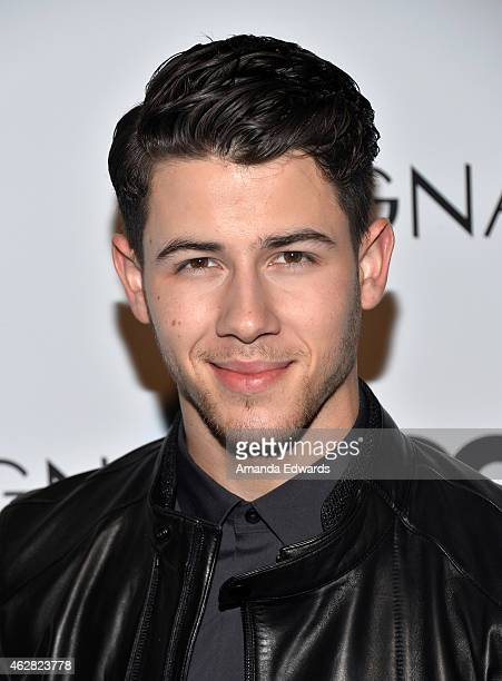 Actor and musician Nick Jonas hosts the Z Zegna GQ celebration of the new Z Zegna at Philymack Inc on February 5 2015 in West Hollywood California