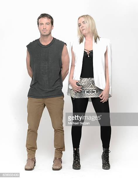 Actor and musician Ryan Carnes and singer and musician Rochelle Vincente Von K pose for portrait at Rochelle Vincente Von K Visits The Starving...